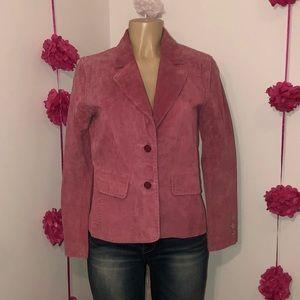 Rosé Leather Blazer